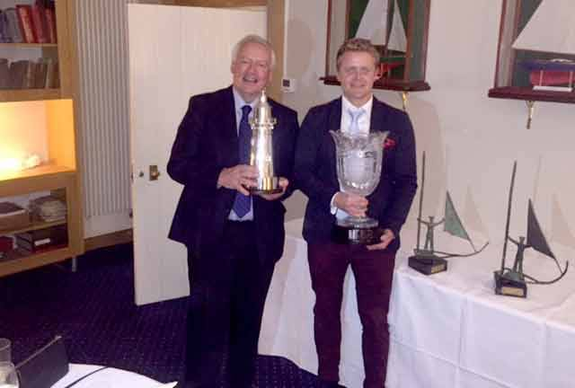 Winning J109 skipper John Maybury (left) and Commandant Barry Byrne of the Irish Defence Forces who skippered Joker II to win the Beaufort Cup in Cork last July