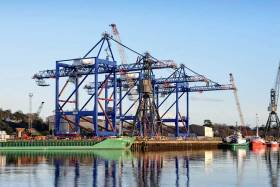 Three cranes, each weighing more than 1,000 tonnes and 85 metres high will be loaded on to a massive ship next week
