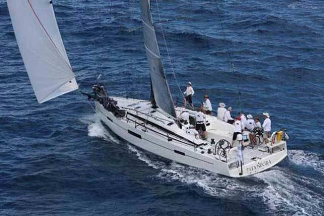 Pata Negra, a Marc Lombard-designed IRC 46. This interesting boat has been chartered by Howth's Michael Wright for the RORC Caribbean 600 in two weeks' time