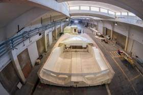 The new design takes shape at the Boatyard in Lisbon