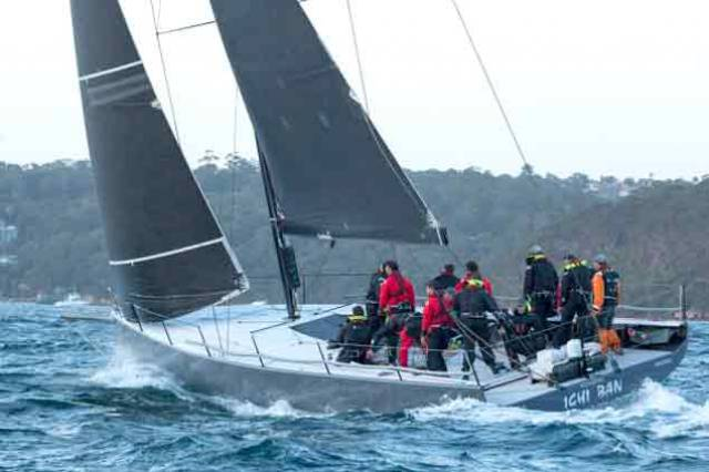 The hottest new boat on the Australian coast. Matt Allen's Botin-designed TP52 Ichi Ban, with Gordon Maguire as Sailing Master. Ichi Ban has been scorching her way to the front of the fleet since making her debut in October, and is a favourite for the handicap win in the up-coming Rolex Sydney-Hobart race