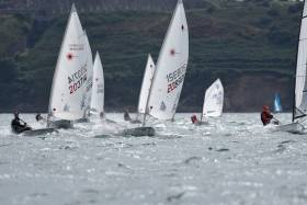 Laser, Optimist. Pico and RS dinghies enjoy some great breeze for summer club racing at Royal Cork Yacht Club