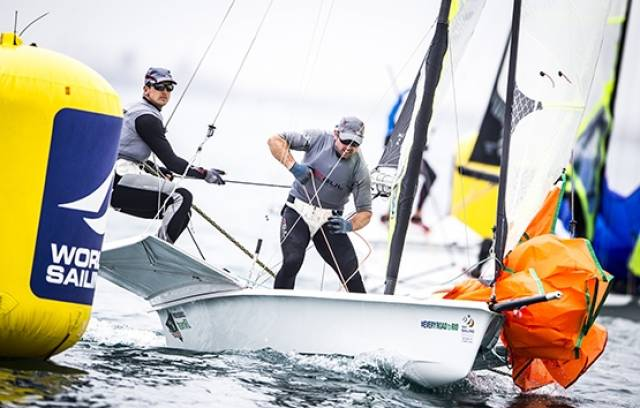 Two six places yesterday put Ryan Seaton and Matt McGovern in the top ten of the 49er class in Weymouth
