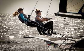 Irish 49erFX Anxiously Await Algerian Entry At Trofeo Princesa Sofia