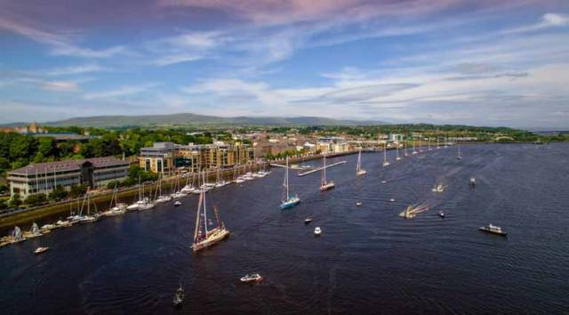 The Clipper race on a previous visit to Derry
