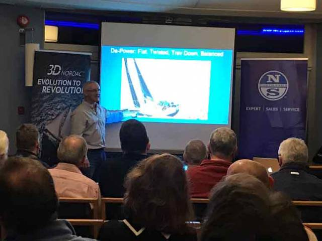 "Maurice ""Prof"" O'Connell at the North Sails talk in Howth"