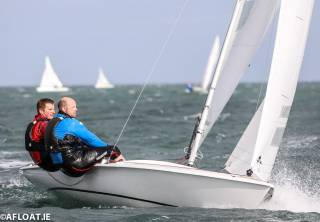 Overall leaders - Fiery Chariot (GBR 4005) Andy McKee and Richard Jones from Dovestone Sailing Club