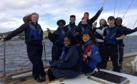 Trainees on a Safe Haven Ireland cruise on the Spirit of Oysterhaven