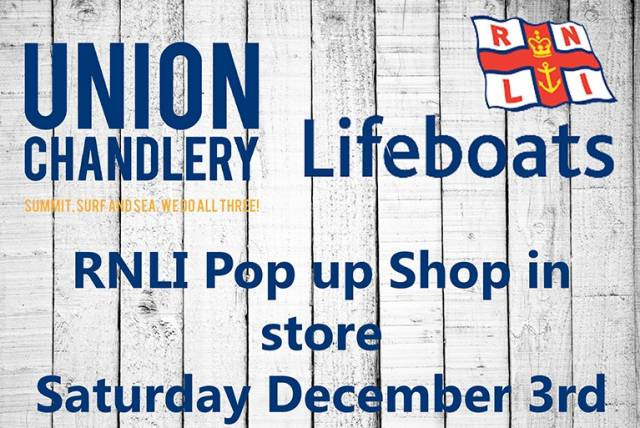 Union Chandlery Host RNLI Pop–Up Shop This Saturday