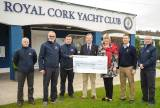 The cheque represented the proceeds of Volvo Cork Week's RNLI Ladies lunch and Fashion Show