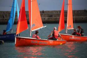 Firefly dinghies will be used for Saturday's Leinster Schools Team Racing Championship at the Royal St. George Yacht Club