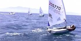Aoife Hopkins training for the  Laser Radial Women's World Championships on Banderas Bay, Mexico. See video below.