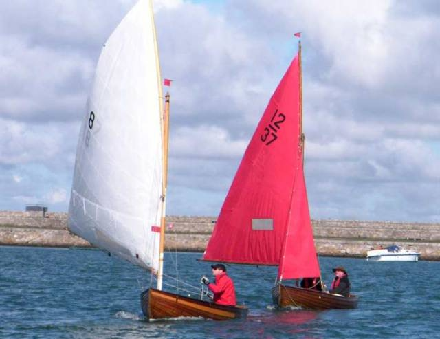 12-foot dinghies racing in Dun Laoghaire Harbour