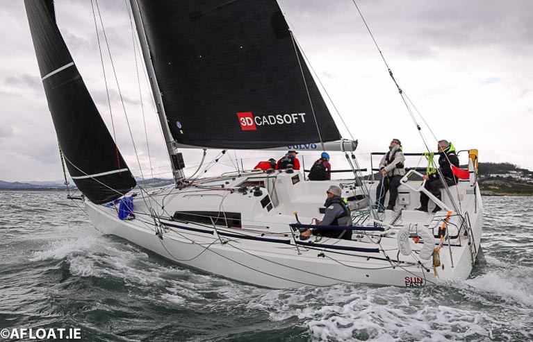 "North Sails Ireland's Maurice 'Prof' O'Connell (pictured to leeward) raced on John O'Gorman's beautiful Sunfast 3600 ""Hot Cookie"" with Noel Butler, Hannah Linehan, Andrew Irvin and Alan Walshe"