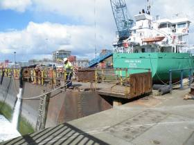 Afloat paid a visit on the historic occasion of the last ever ship, Arklow Fame to use Dublin Graving Docks. The decision to close the largest dry-dock facility in the state has been described as 'lamentable' by the Maritime Institute of Ireland
