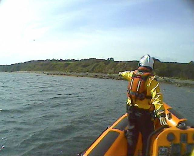 Skerries Lifeboat Launches To Report Of Stranded Fisherman
