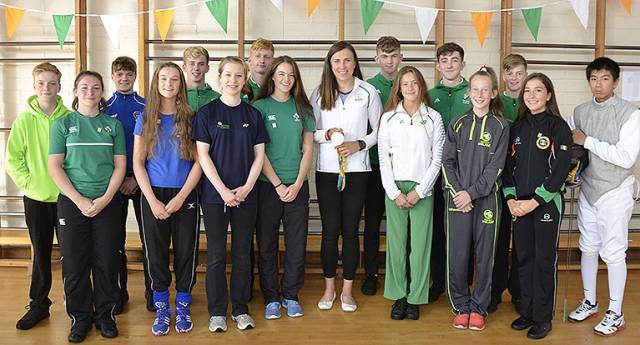 Olympic silver medalist sailor Annalise Murphy was honoured with a whole school assembly at her former secondary school, The High School in Rathgar, to salute her achievement in Rio a month ago