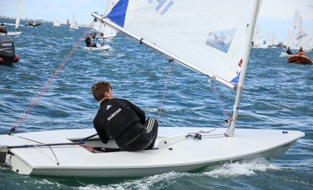 Johnny Durcan finished second in Weymouth