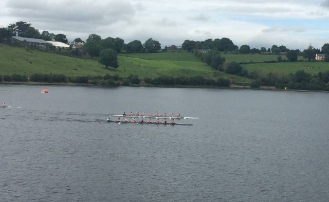 Skibbereen/UCC and NUIG  Women's Eights Drive for the Line today.