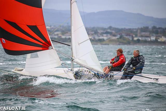 Keith Poole's Flying Fifteen 'The Gruffalo' from the National Yacht Club was the winner of tonight's DBSC race