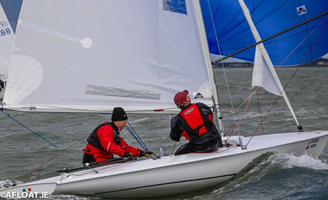 Dave Mulvin (left) and Ronan Beirne – DBSC Flying fifteen race winners