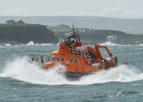 Portrush RNLI came to the aid of a man in need of emergency medical assistance on Saturday