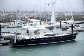 Ruth II, an impressive Oyster 625, is berthed at Dun Laoghaire Marina having arrived on her maiden sail from Ipswich