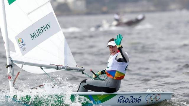 Annalise Murphy was race one winner in the Laser Radial class this afternoon