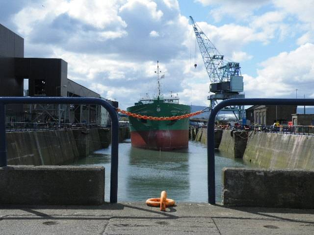 The 90m Arklow Fame became the final ship to use the 220m dry-dock in Dublin Port (the largest in the state) which closes tomorrow.