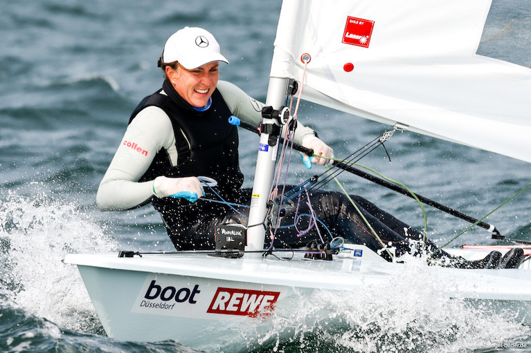 The National Yacht Club's Annalise Murphy competing in Kiel Regatta in Germany last month
