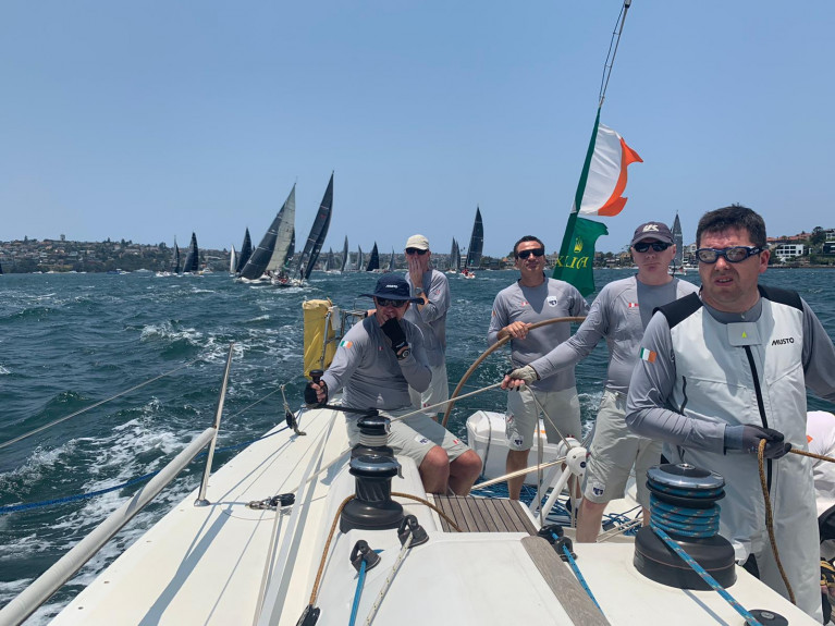 The Howth Yacht Club First 40 Breakthrough crew were eighth boat across the line in a 56-boat startline