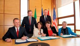 The signing of the Galway Statement on Atlantic Ocean Cooperation on 24 May 2013