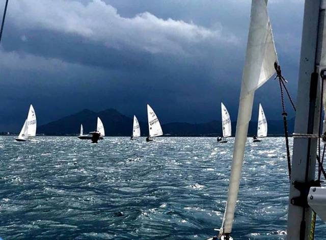 Stormy conditions for the Flying Fifteen Spanish Championships