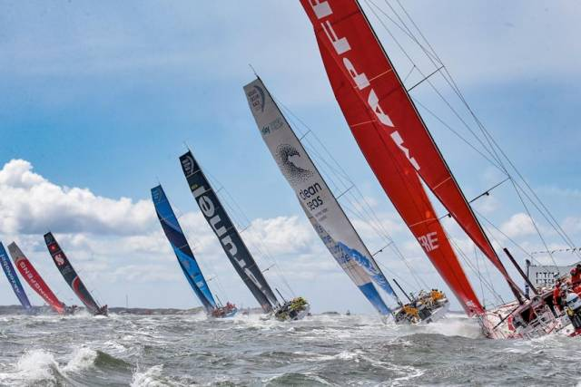 Start day on the final leg of the 2017-18 Volvo Ocean Race