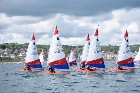 Toppers racing out of County Antrim Yacht Club last Sunday