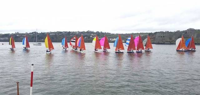Racing was extremely challenging for all sailors on the water at Kinsale