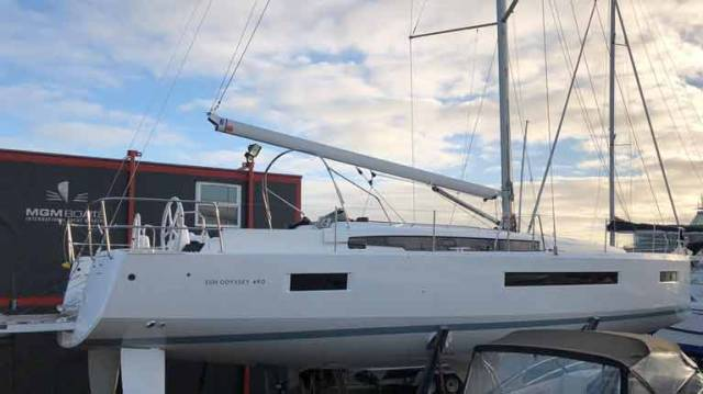 MGM Boats Showcase Sun Odyssey 410 at Dusseldorf Boat Show, 490 Model on Display in Dun Laoghaire