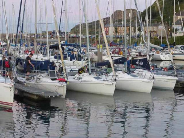 Race ready. Howth YC's flotilla of J/80s will be in action this weekend to select the Irish crew for the Student Yachting Worlds 2018
