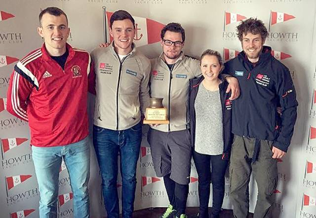 The winning CIT sailing team consisted of: Skipper: Jay Stacy, Main Trimmer: Marcus Ryan, Jib Trim: Pearse O'Flynn, Pit: Amy Harrington,  Bowman: Louis Mulloy