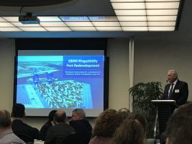 Port of Cork chief executive Brendan Keating discussed Irish ports in a post-Brexit Europe to the Cork Chamber of Commerce yesterday and also to confirm the €80m redevelopment at Ringaskiddy will be completed by mid 2020