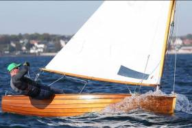 Mark Delany sailing Cora in Copenhagen