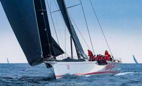 Wild Oats XI, the line honours winner in the Sydney Hobart Race