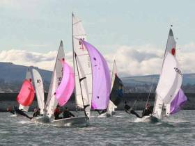 DMYC Frostbite dinghy racing at Dun Laoghaire