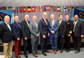 Cork 300 celebrations are led by Tanaiste Simon Coveney (pictured centre) at last night's launch at the RCYC. Scroll down for launch photos