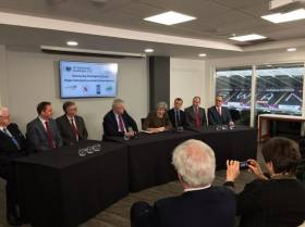 BREXIT: On the day that the UK announced the triggering date of Article 50 to begin leaving the EU, Prime Minister Theresa May paid a visit to Wales yesterday to sign the Swansea Bay City Deal in the Liberty Stadium, Swansea. The venue is the home ground for Swansea City F.C. and Ospreys Rugby.