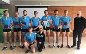 The UCD senior eight, the Irish Univeristies champions 2017