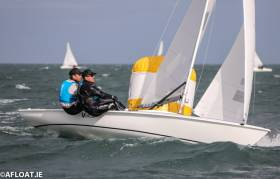 Graham Vials and Chris Turner have a 19 point lead at the half way stage of the Flying Fifteen Worlds in Dun Laoghaire