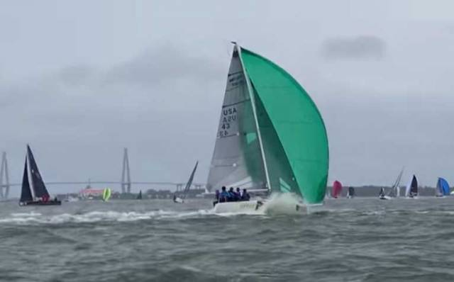 Melges 24 Dismasting at Charleston Race Week - VIDEO