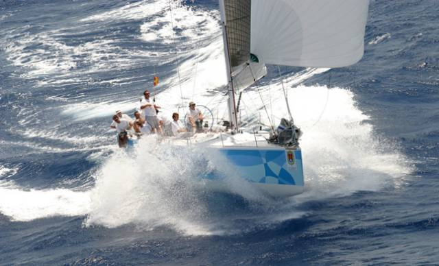 Mediterranean sailing at its best. With a suit of sails made by UK McWilliam, including one of Des McWilliam's very special spinnakers, the Judel Vrolik IMS 48 Cristabelle is making hay off Alicante