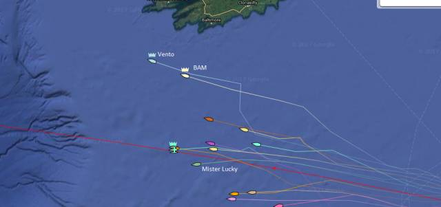 Fogerty's Sunfast 3600 BAM made a significant play yesterday by heading North to the Irish coast